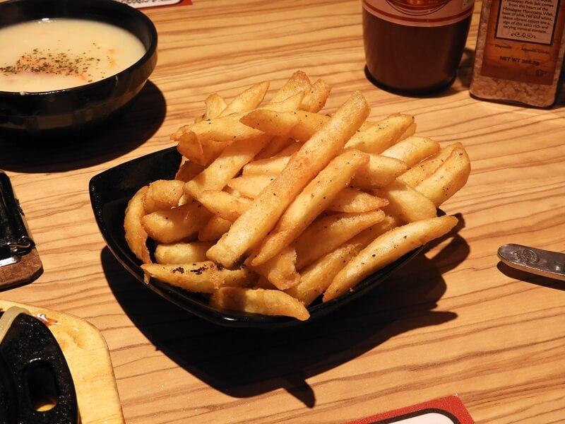 孫東寶牛排的炸薯條