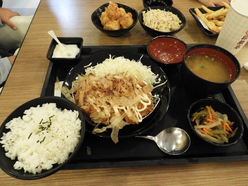 大阪燒豬排定食