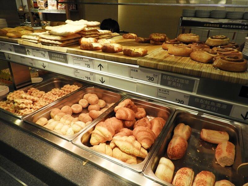 自助麵包區