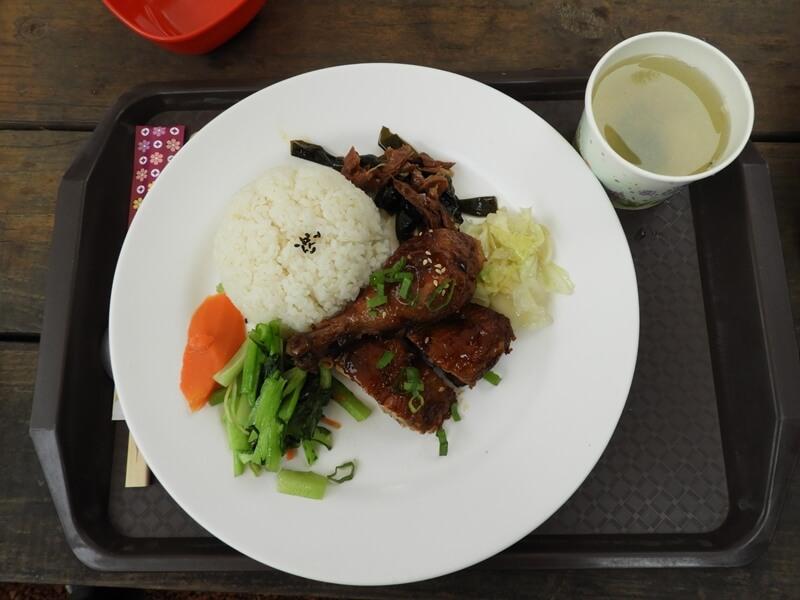 在新竹綠世界生態農場享用午餐